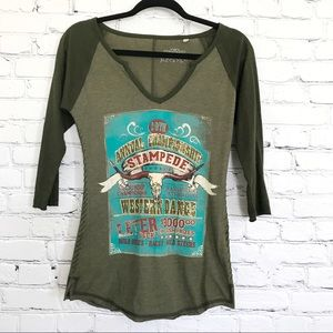 Panhandle Embellished Jersey Shirt Green Small
